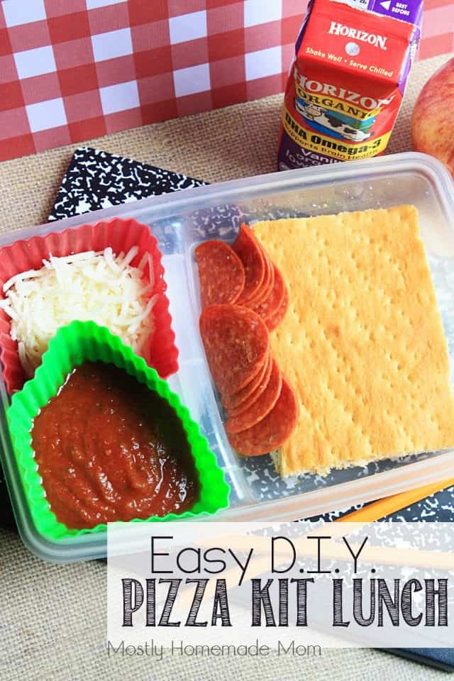 Easy diy pizza kit lunch mostly homemade mom for Easy diy lunches