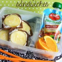 Mini Dill Pickle Sandwiches – with Del Monte Fruit Bursts!