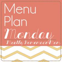Menu Plan Monday 9/29