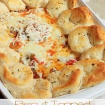 Biscuit Topped Italian Casserole