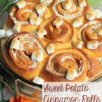 Sweet Potato Cinnamon Rolls with Marshmallow Filling