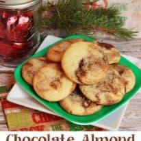 Chocolate Almond Marbled Sugar Cookies