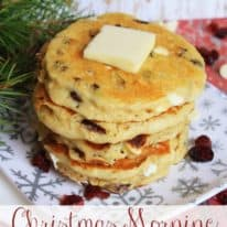 Christmas Morning Pancakes – with Quaker Whole Grain Oats!