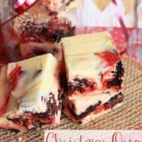 Christmas Oreo Fudge