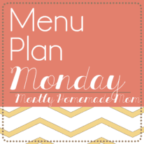 Menu Plan Monday 1/12