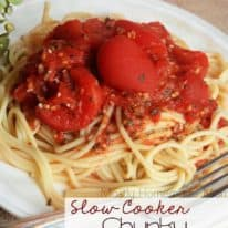 Slow Cooker Chunky Tomato Basil Pasta Sauce