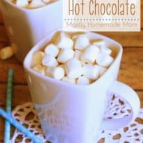 Melted Marshmallow Hot Chocolate