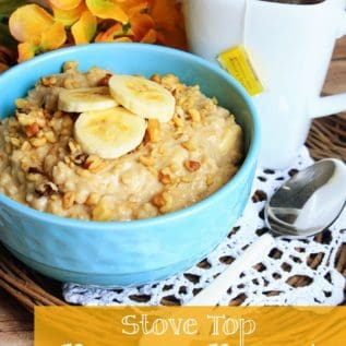 Stove Top Banana Bread Oatmeal