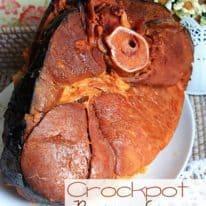 Brown Sugar Ham in Crockpot (VIDEO)