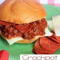 Crockpot Pizza Burgers
