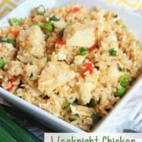 Weeknight Chicken Fried Rice