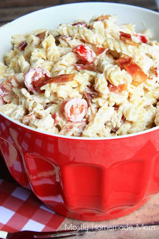 how to make bacon ranch pasta salad