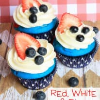 Red, White, & Blue Cupcakes