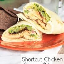 Shortcut Chicken Caesar Wraps