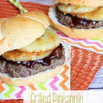 Grilled Pineapple BBQ Burgers