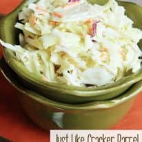 Just Like Cracker Barrel Coleslaw