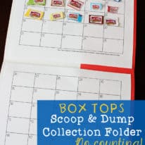 Box Tops Scoop & Dump Collection Folder – No Counting! Free Printable