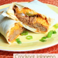 Crockpot Jalapeno Beef Burritos