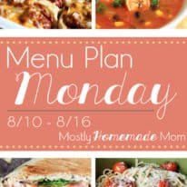 Menu Plan Monday 8/10