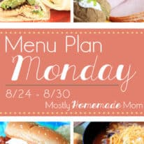 Menu Plan Monday 8/24