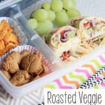 Roasted Veggie Lunchbox Roll Ups
