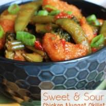 Sweet & Sour Chicken Nugget Skillet