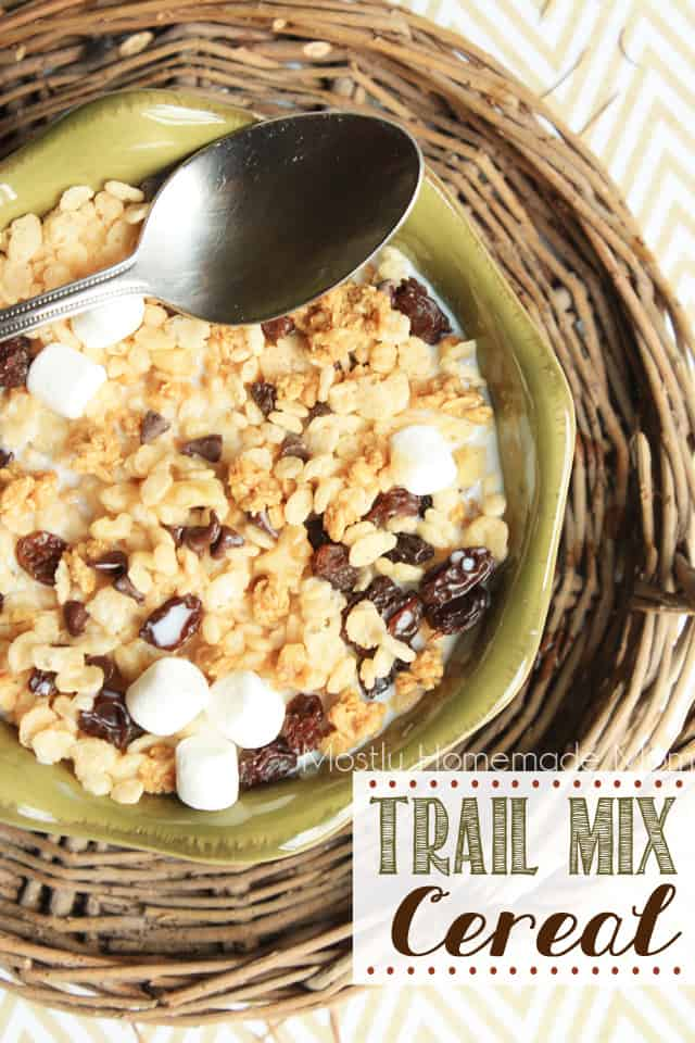 Trail mix cereal mostly homemade mom we are huge cereal eaters in this family i was beginning to think that this summer would be my time to really get out all the pans and make big breakfasts ccuart Image collections