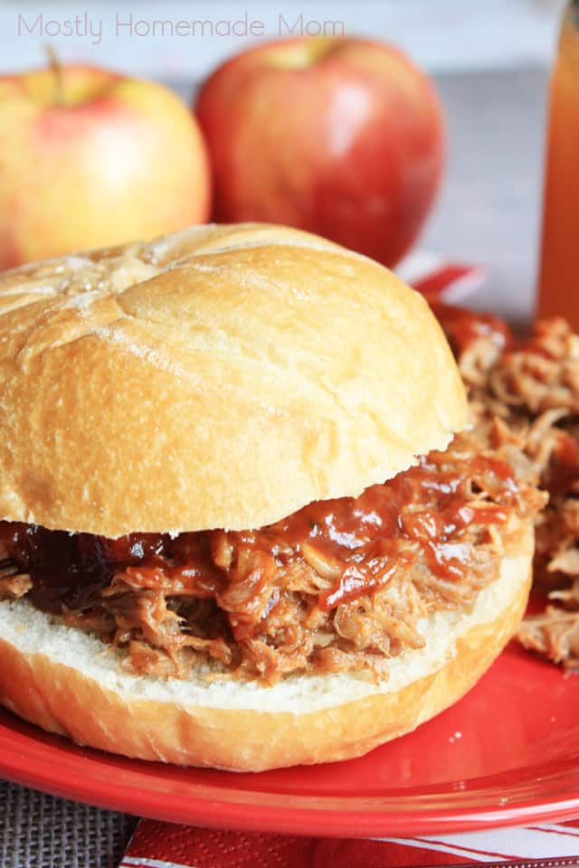 Crockpot Apple Cider Pulled Pork Mostly Homemade Mom