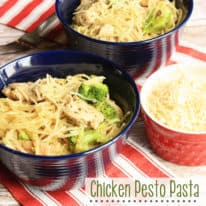 #Ad – Chicken Pesto Pasta