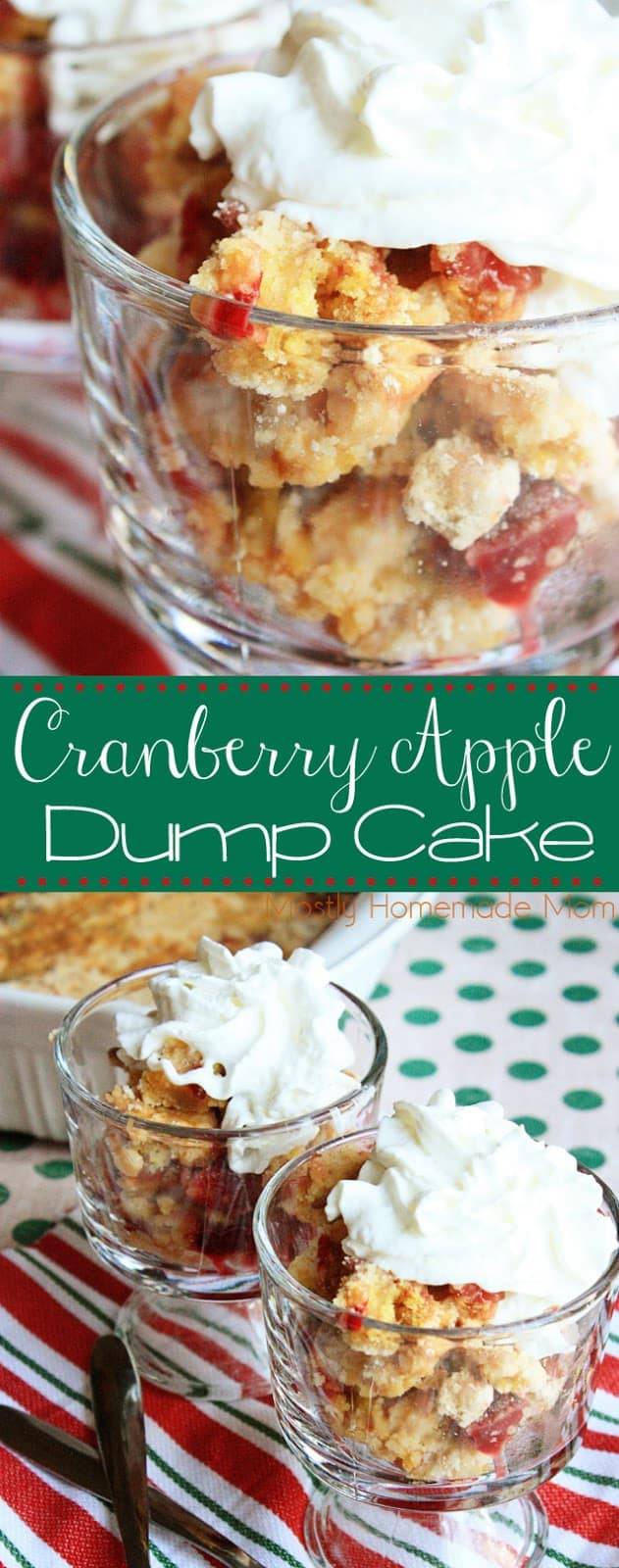 Apple Cranberry Dump Cake Recipe