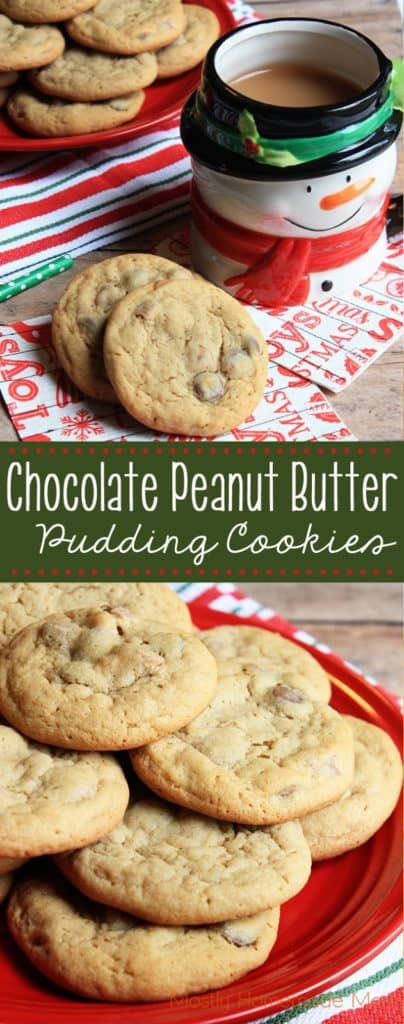 Chocolate Peanut Butter Pudding Cookies Mostly Homemade Mom