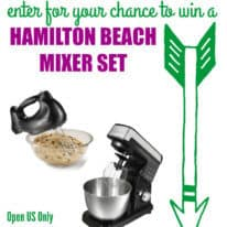 Hamilton Beach Mixer Set Giveaway!