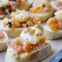 Shrimp Scampi Bruschetta