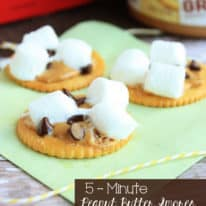 5 Minute Peanut Butter Smores
