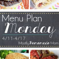 Menu Plan Monday 4/11