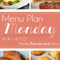 Menu Plan Monday 4/4