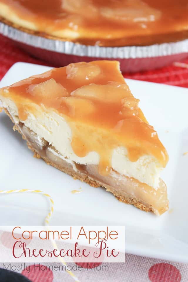 Caramel apple cheese cake pie dessert recipe