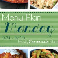 Menu Plan Monday 5/9