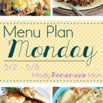 Menu Plan Monday 5/2
