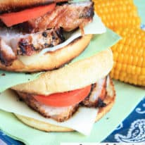 Grilled Pork Parmesan Sandwiches