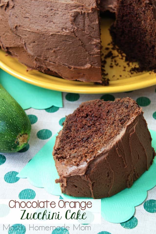Chocolate Orange Zucchini Cake recipe