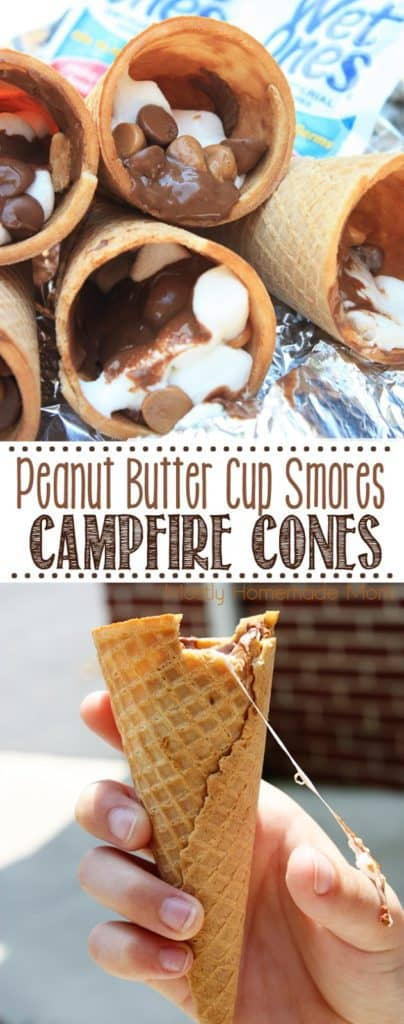 Peanut Butter Cup S mores on the grill