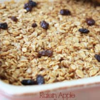 Raisin Apple Amish Baked Oatmeal