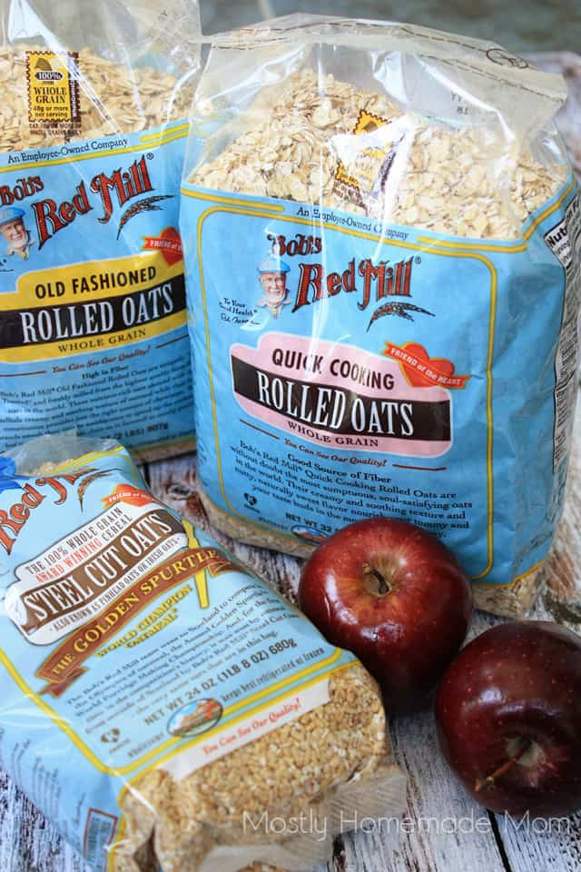 Raisin Apple Amish Baked Oatmeal with rolled oats