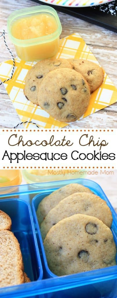 Chocolate Chip Applesauce Cookies recipe in bento boxes