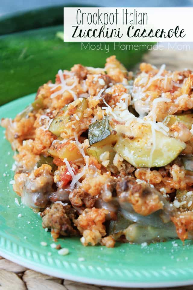 Crockpot Italian Zucchini Casserole recipes for zucchini