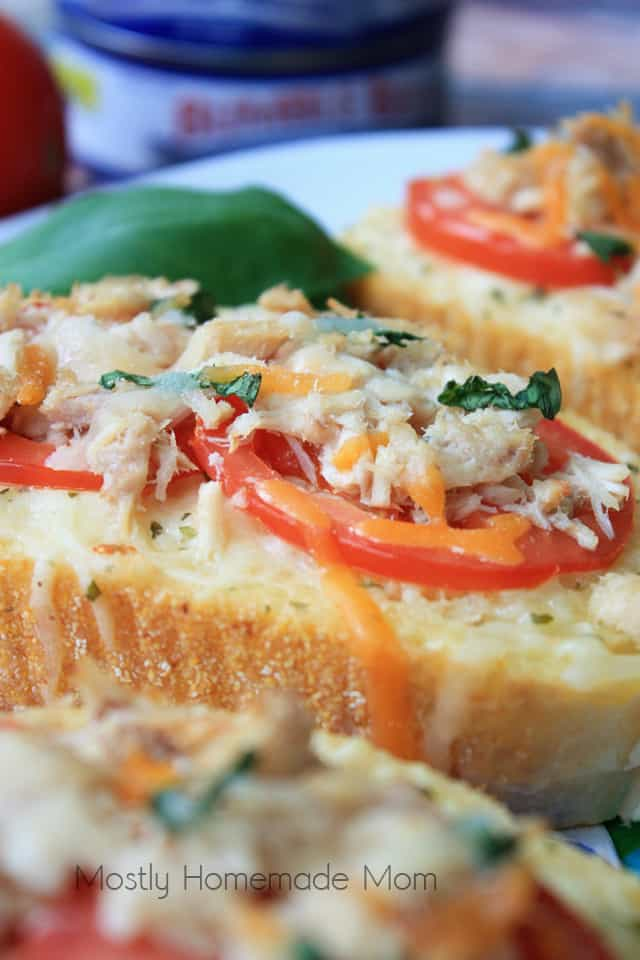 Garlic Bread Tuna Melt Recipe