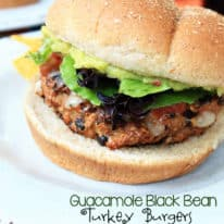 Guacamole Black Bean Turkey Burgers