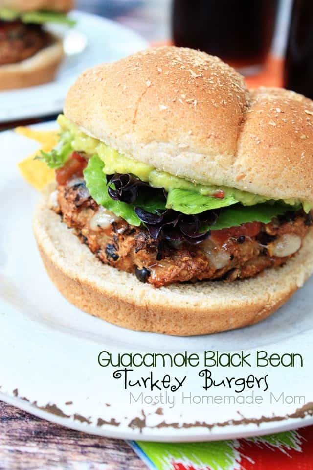 Guacamole Black Bean Turkey Burger Recipe