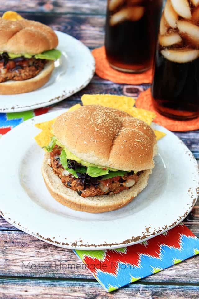 Guacamole Black Bean Turkey Burgers
